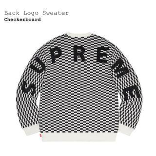 Supreme -  supreme back logo バック ロゴ チェッカー L セーター