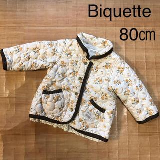 Biquette - キルティングジャケット キッズ ビケット 80