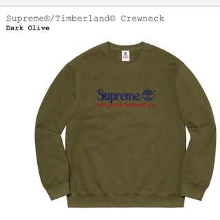 Supreme - supreme timberland クルーネック ダークオリーブ 新品