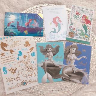 Disney - アリエル ポストカード&タトゥーシール