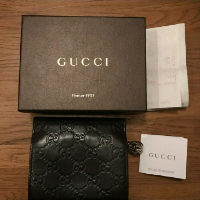 偽物時計修理,Gucci-正規品GUCCI2つ折財布シリアルナンバー有り、箱レシート付き の通販