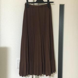 PLST - PLST/ブラウンプリーツスカート