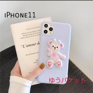 iPhone11ケース 3D シェリーメイ ダッフィー 可愛い スマホケース