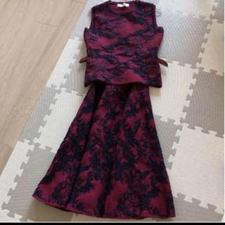 LE CIEL BLEU - ルシェルブルーサマーニットスカートセットアップワンピースフレアスカート