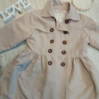 スプリングコート  女の子 コート  ベージュ