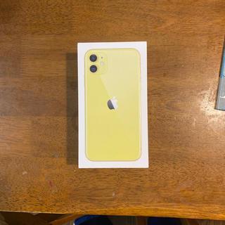 アップル(Apple)の[値下げ+送料無料!]アップル アイフォーン 11 イエロー 64GB(スマートフォン本体)