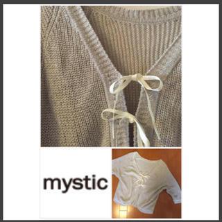 mystic - フロントリボン カーディガン
