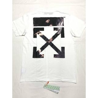 オフホワイト(OFF-WHITE)の新品 SS20 OFF-WHITE カラバッジオ アロープリント Tシャツ(Tシャツ/カットソー(半袖/袖なし))