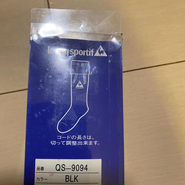 le coq sportif(ルコックスポルティフ)のルコック 靴下留め 黒色 日本製 匿名配送 メンズのレッグウェア(ソックス)の商品写真