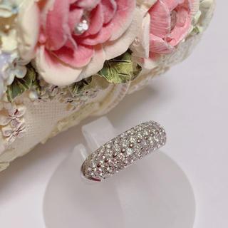 ☆美品☆ パヴェリング ☆ ダイヤモンド リング プラチナ 1ct パヴェ(リング(指輪))