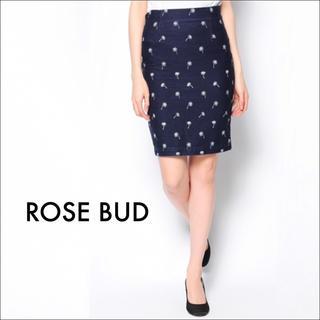 ROSE BUD - ROSE BUD ハイウエスト ストレート スカート♡ナノユニバース マウジー