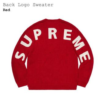 Supreme - Supreme Back Logo Sweater L Red