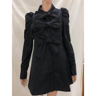 one spo - onespo 3BOWシャツドレス ブラック