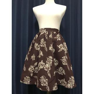 dazzlin - ボルドー 花柄スカート