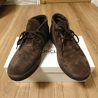 モンクレール(MONCLER)のMONCLER チャッカブーツ スエード シューズ 箱有 スニーカー 靴 メンズ(ブーツ)