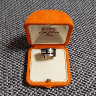 Hermes - エルメス リング指輪 ムーヴアッシュ シルバー 925 Hロゴ 黒