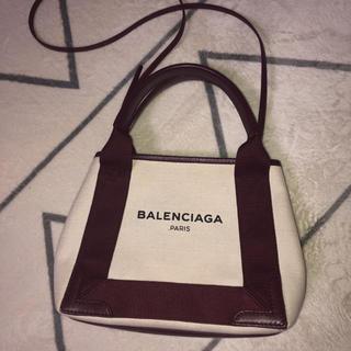 Balenciaga - バレンシアガ ネイビーカバ  xs トートバッグ ショルダーバッグ キャンバス