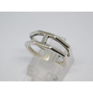 美品 12号 中抜き リング フリーサイズ シルバーリング(リング(指輪))