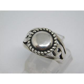 美品 14号 ミラー リング フリーサイズ シルバーリング(リング(指輪))