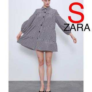 ZARA - ZARA ギンガムチェック柄ワンピース ギンガムチェック柄 ワンピース