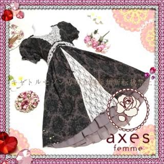 axes femme - 【送料込】axes femme♡上品クラシカルフレアワンピース
