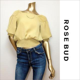 ローズバッド(ROSE BUD)のROSE BUD スクエアネック ボリュームスリーブ トップス♡アングリッド(シャツ/ブラウス(半袖/袖なし))