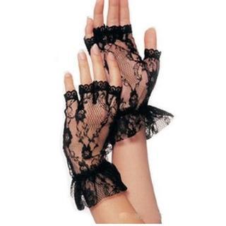 新品◆レースのフィンガーレス手袋①