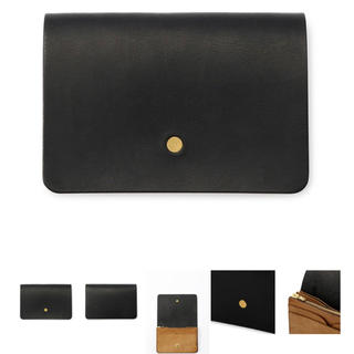 Hender Scheme - forme フォルメ Hand wallet Liscio black 財布