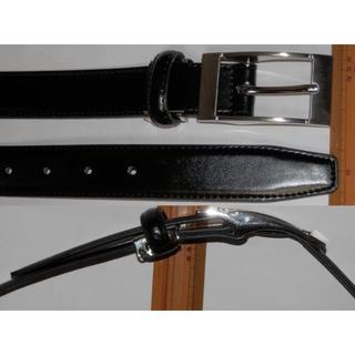 本革ベルト 黒~115cm Leather belt紳士メンズビジネススーツ通勤