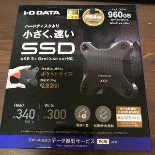 IODATA - ポータブルSSD 960GB PS4対応 I/O データ