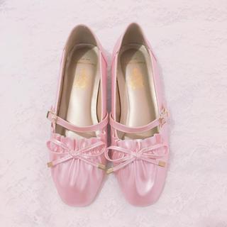 Angelic Pretty - BacioBouquet Tiffany リボンパンプス ピンク