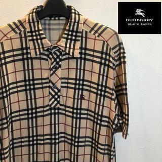 バーバリーブラックレーベル(BURBERRY BLACK LABEL)の【激レア】バーバリー ブラックレーベル ノバチェック ポロシャツ(ポロシャツ)