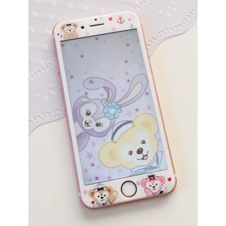 iPhone7/8 強化ガラスフィルム iPhone6/6s ダッフィー 1