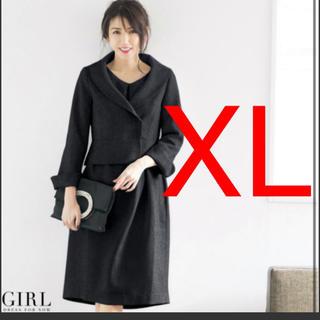GIRL - girl ガール セットアップ スーツ XL ワンピース ブラック 13号