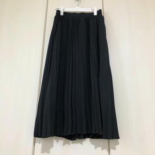 GU - GU♡プリーツロングスカート♡黒♡ブラック♡これからの季節にピッタリ♡