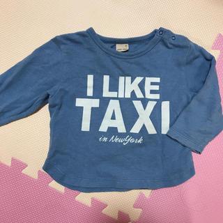 プティマイン(petit main)のpetit main トップス90ブルーtaxi車 プティマイン ロンT(Tシャツ/カットソー)