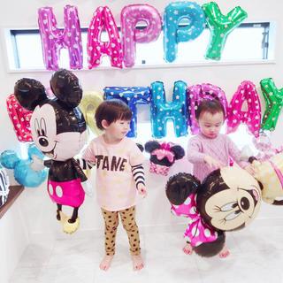 ミッキーミニーの誕生日バルーンセット♡文字カラー変更可♡送料無料
