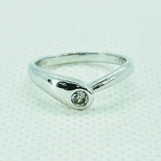 K18WG  ダイヤモンド 0.14ct  リング(リング(指輪))