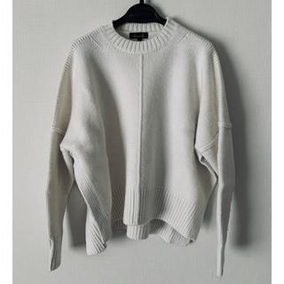Drawer - 2019SS 完売品 カシミヤコットン天竺編み ニット ホワイト ドゥロワー