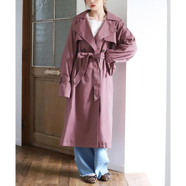 one after another NICE CLAUP(ワンアフターアナザーナイスクラップ)の身長別トレンチコート レディースのジャケット/アウター(トレンチコート)の商品写真