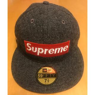 Supreme - supreme  ボックスロゴ 星条旗 グレー キャップ