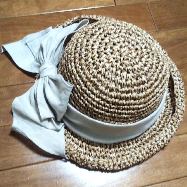 acca(アッカ)のお値下げ★acca ペーパーハット リボン 麦わら帽子 リネン アッカ レディースの帽子(麦わら帽子/ストローハット)の商品写真