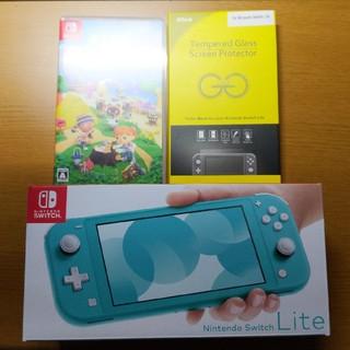 Nintendo Switch - [送料込]Nintendo Switch lite ターコイズ どうぶつの森