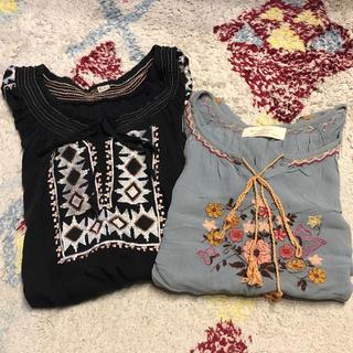 ダブルクローゼット(w closet)の刺繍ブラウス まとめ売り セット(セット/コーデ)