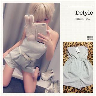 Delyle NOIR - Delyle♡ビスチェロンパース♡グレー