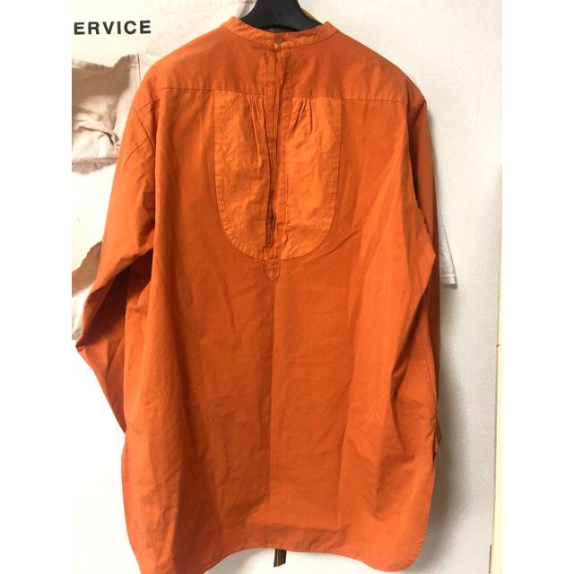 BEAUTY&YOUTH UNITED ARROWS(ビューティアンドユースユナイテッドアローズ)のroku オレンジ バンドカラーブラウス レディースのトップス(シャツ/ブラウス(長袖/七分))の商品写真