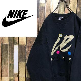 NIKE - 【激レア】ナイキ☆USA製銀タグビッグロゴ発泡プリントスウェット 90s