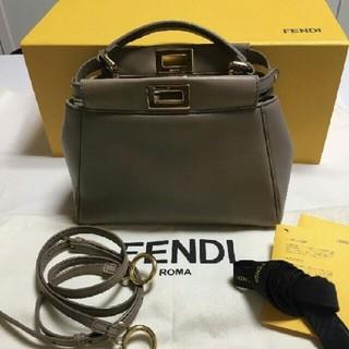 FENDI - 美品FENDIフェンディPEEKABOOピーカブー ミニベージュナッパ