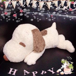 SNOOPY - 【新品】スヌーピー 寝そべりぬいぐるみ〈ブラウン〉(非売品)