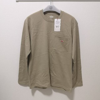 DANTON - クルーネック ポケットTシャツ 長袖 JD-9077